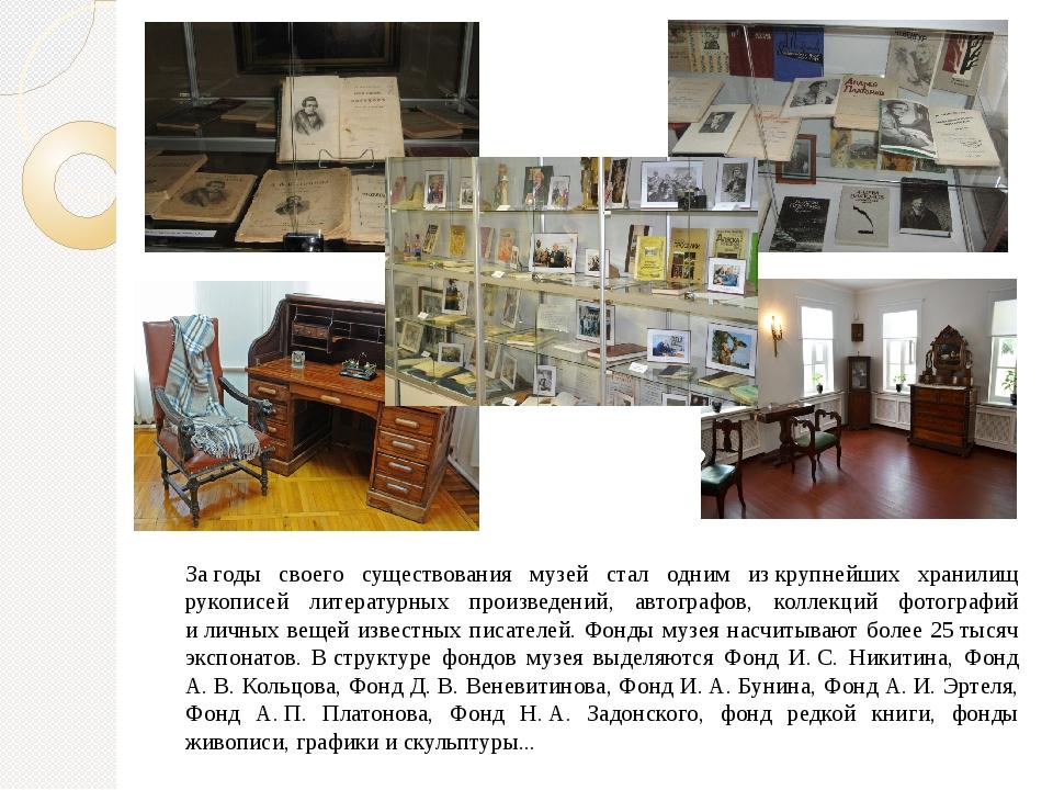 Загоды своего существования музей стал одним изкрупнейших хранилищ рукописе...