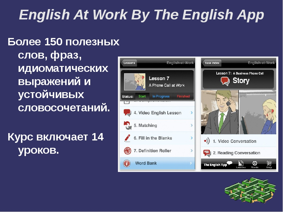 English At Work By The English App Более 150 полезных слов, фраз, идиоматичес...