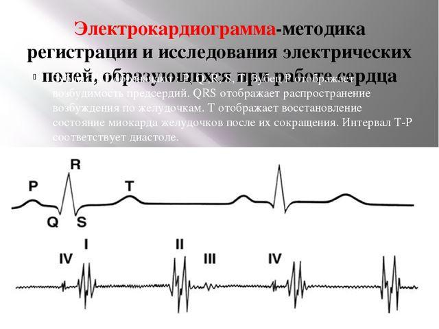 Электрокардиограмма-методика регистрации и исследования электрических полей,...