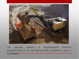 На данный момент в Воронежской области разрабатывается 60 месторождений разли