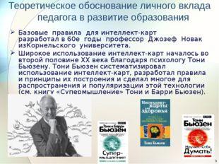 Теоретическое обоснование личного вклада педагога в развитие образования Базо