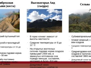 Природные условия для сельского хозяйства 3.Почвы Полупустыни (пуна) Почвы ма