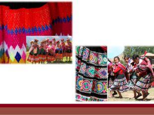 Женщины в Перу не носят пончо. Вместо пончо у них есть льикльи, дизайн котор