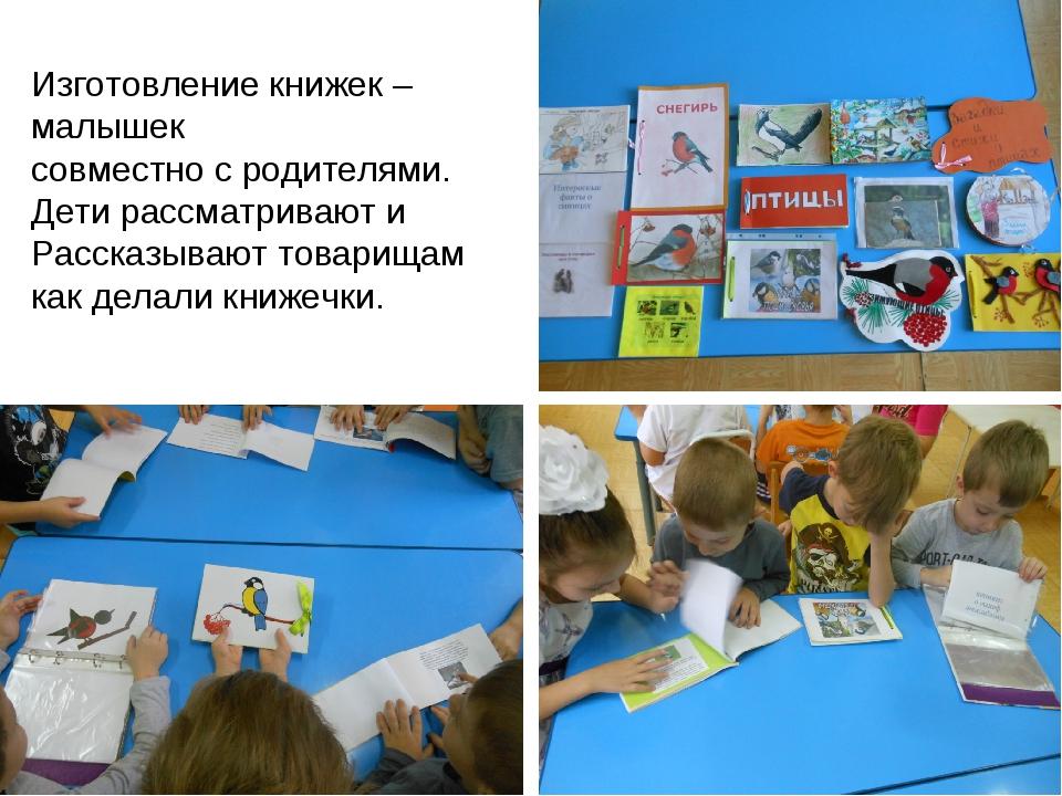 Изготовление книжек – малышек совместно с родителями. Дети рассматривают и Ра...