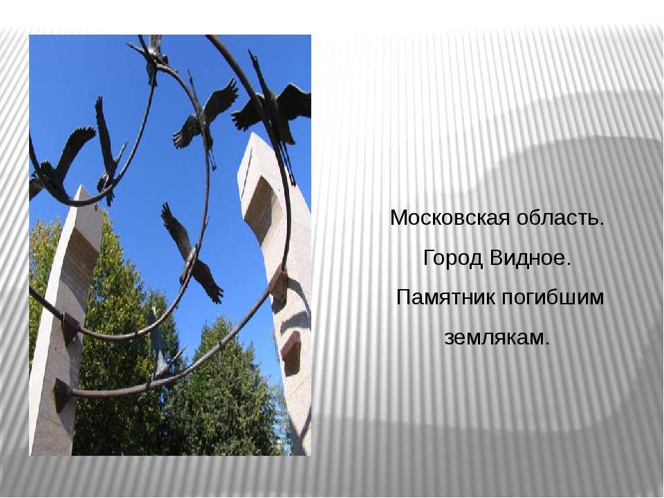 Московская область. Город Видное. Памятник погибшим землякам.