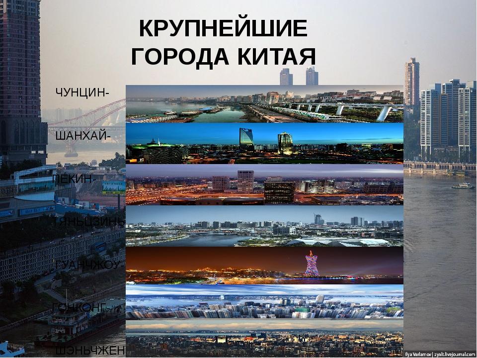 КРУПНЕЙШИЕ ГОРОДА КИТАЯ ШАНХАЙ-  ПЕКИН- ТЯНЬЦЗИНЬ- ГУАНЧЖОУ- ГОНКОНГ- ШЭ...