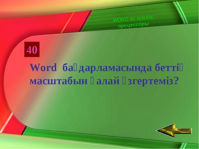 40 Word бағдарламасында беттің масштабын қалай өзгертеміз? WORD мәтіндік проц...