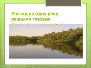 Взгляд на одну реку разными глазами Река глазами литератора
