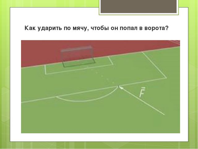 Как ударить по мячу, чтобы он попал в ворота?