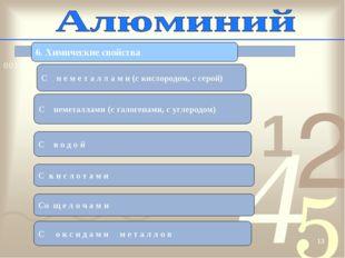 * 6. Химические свойства C н е м е т а л л а м и (c кислородом, с серой) C не