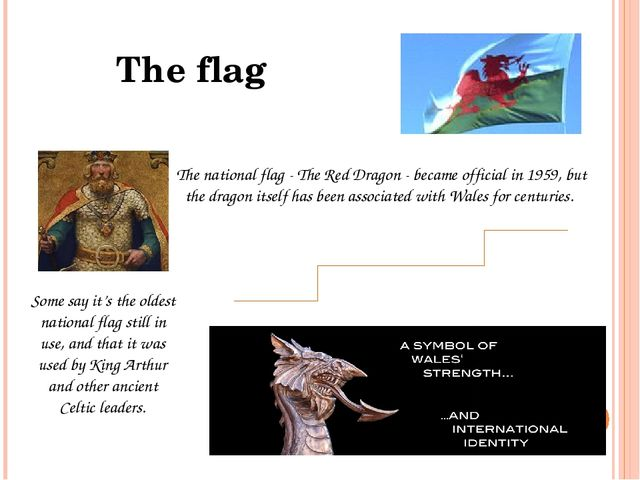 The national flag - The Red Dragon - became official in 1959, but the dragon...