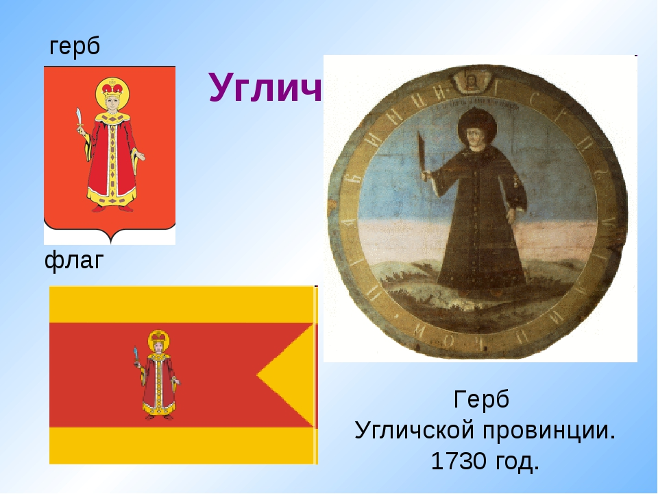 флаг Углич герб Герб Угличской провинции. 1730 год.