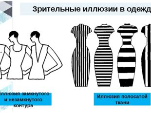 Зрительные иллюзии в одежде Иллюзия замкнутого и незамкнутого контура Иллюзия