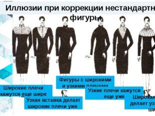 Иллюзии при коррекции нестандартной фигуры Широкие плечи кажутся еще шире Фиг