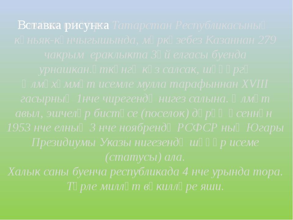 Әлмәт шәһәре Татарстан Республикасының көньяк-көнчыгышында, мәркәзебез Казанн...