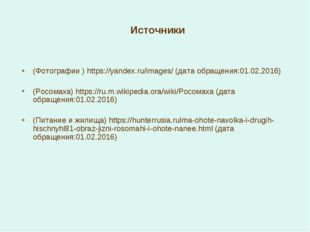Источники (Фотографии ) https://yandex.ru/images/ (дата обращения:01.02.2016)
