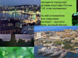На побережье Тихого океана находится город-порт Владивосток. Его называют мо