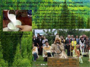 Один из самых красивых якутских народных праздников – праздник кумыса (Ысыах