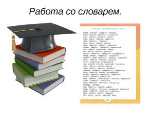 Работа со словарем.