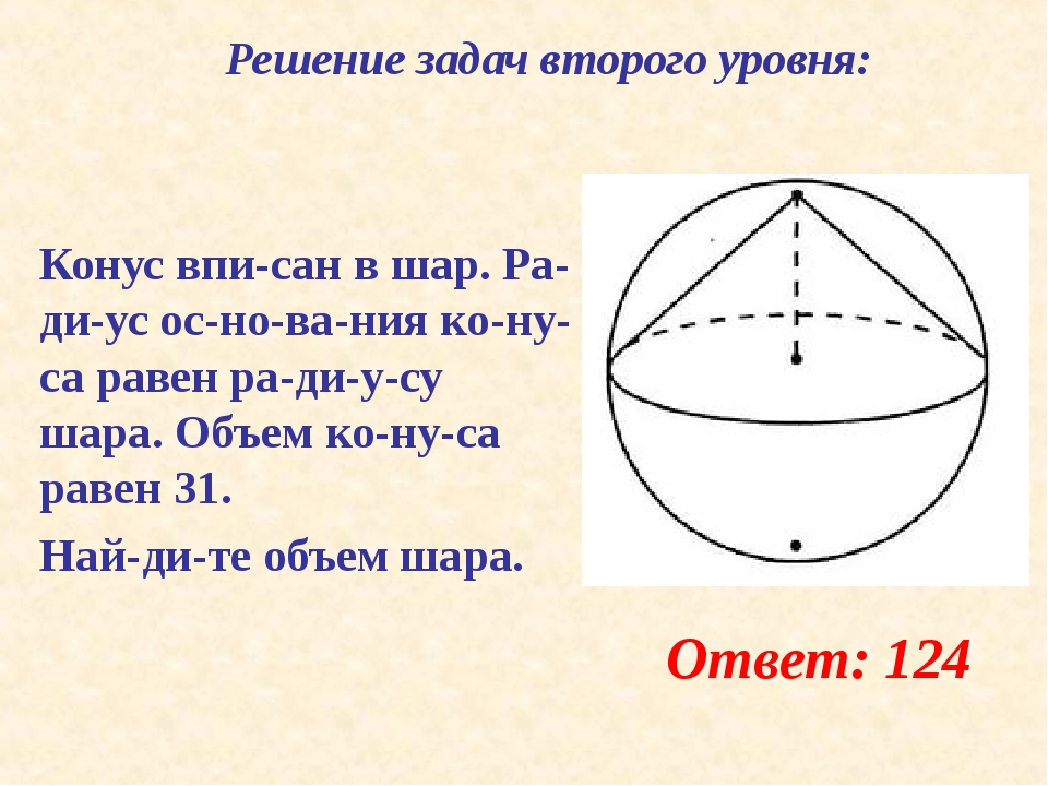 Конус вписан в шар. Радиус основания конуса равен радиусу шара. Об...