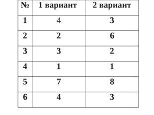 №1 вариант 2 вариант 143 226 332 411 578 643