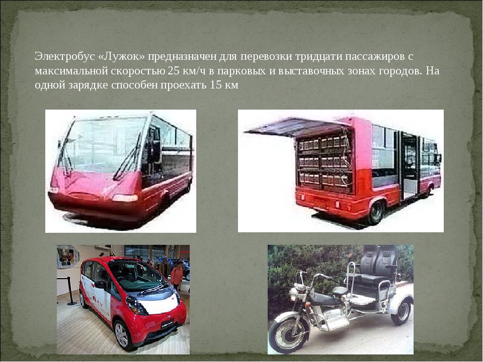 Электробус«Лужок» предназначен для перевозки тридцати пассажиров с максималь...