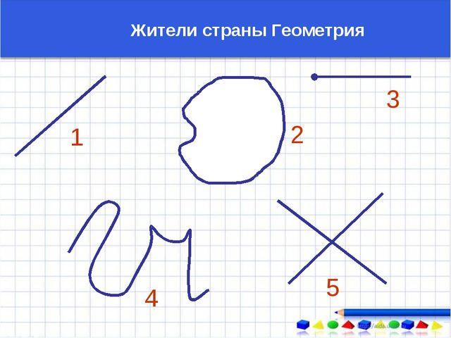 1 2 3 4 5 Жители страны Геометрия