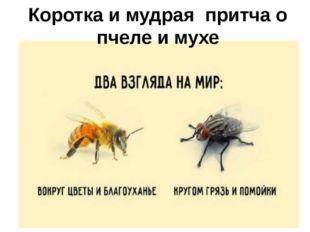 Коротка и мудрая притча о пчеле и мухе Притча о пчеле и мухе.