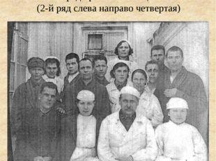 Медсестра Тухватуллина Сара среди раненых бойцов (2-й ряд слева направо четве