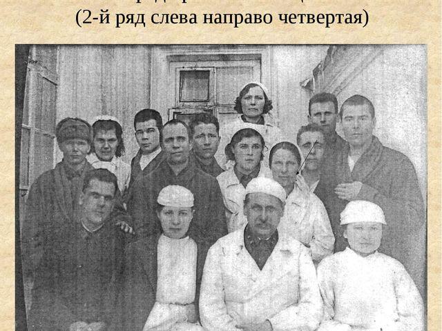Медсестра Тухватуллина Сара среди раненых бойцов (2-й ряд слева направо четве...