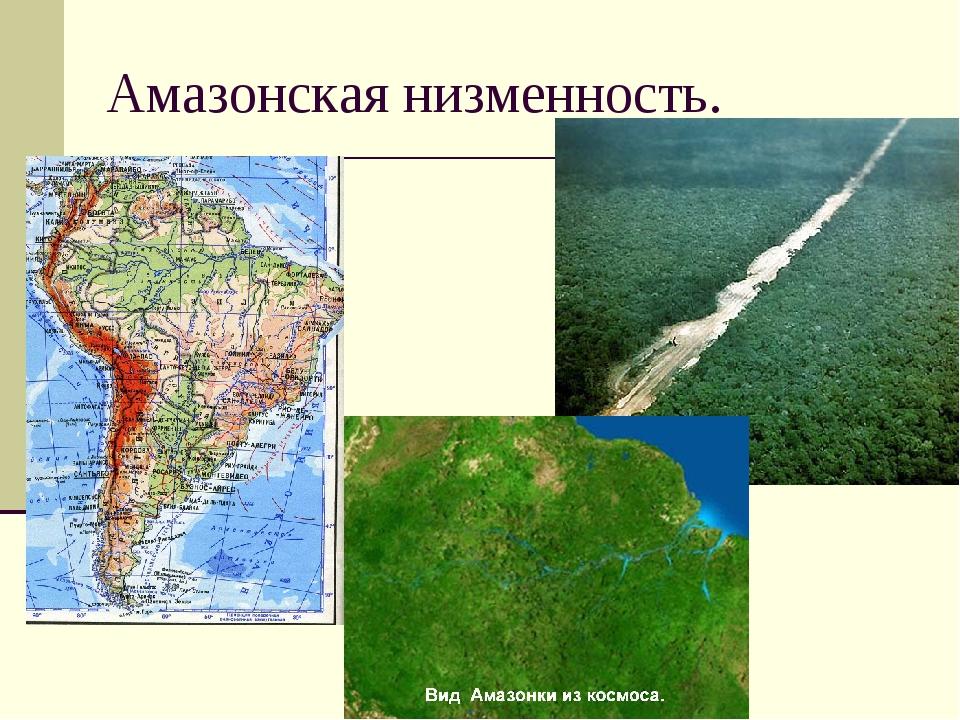 Амазонская низменность.