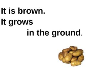 It is brown. It grows in the ground.