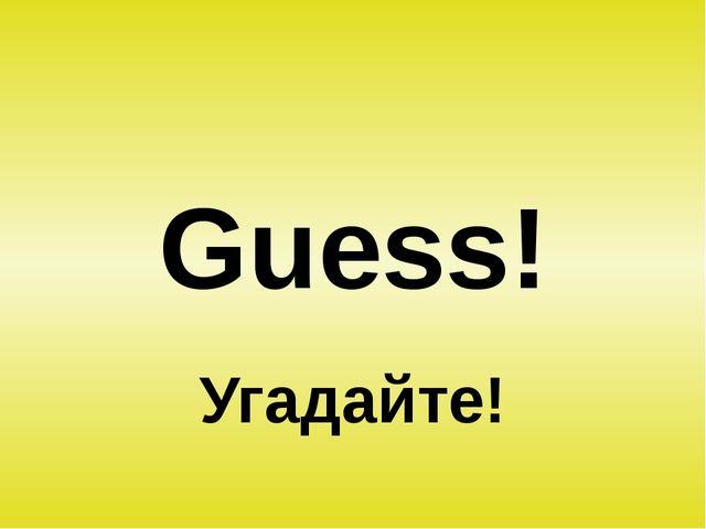 Guess! Угадайте!