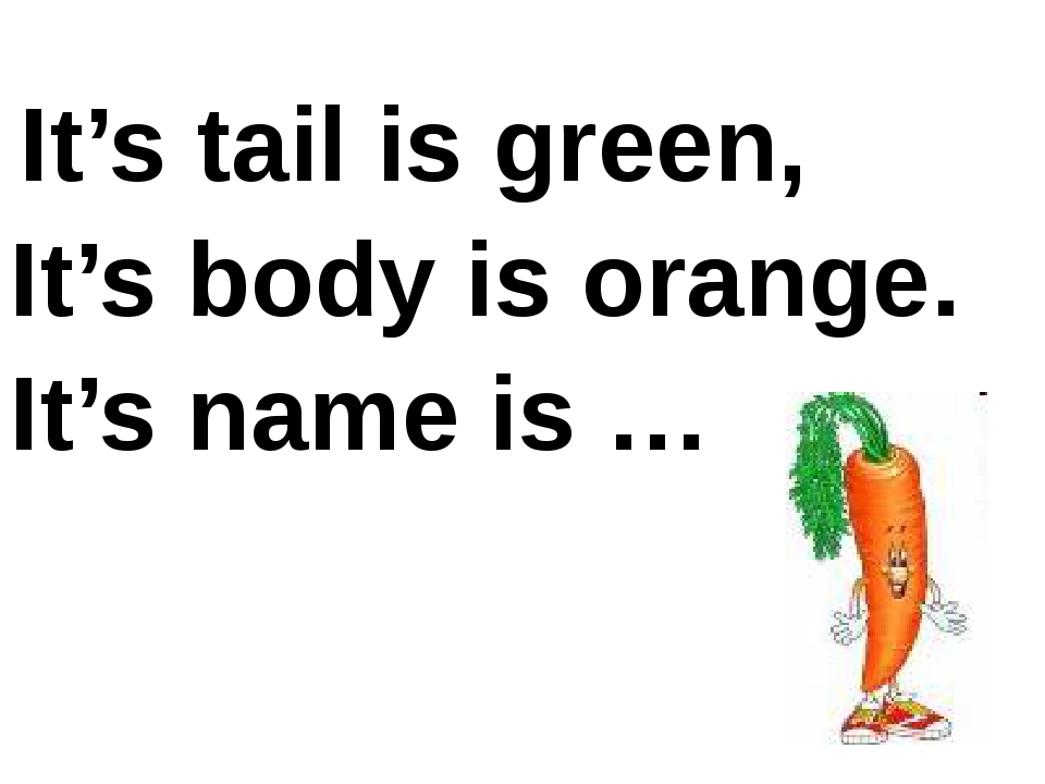 It's tail is green, It's body is orange. It's name is …