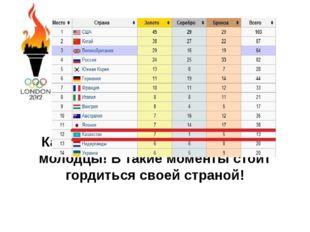 Казахстан Вперед! Мы огромные молодцы! В такие моменты стоит гордиться своей