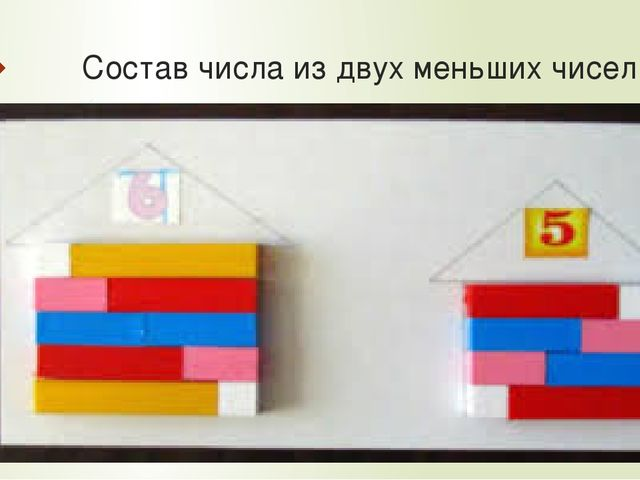 Состав числа из двух меньших чисел