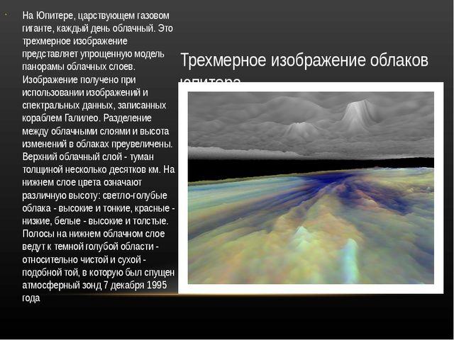 Трехмерное изображение облаков юпитера На Юпитере, царствующем газовом гигант...