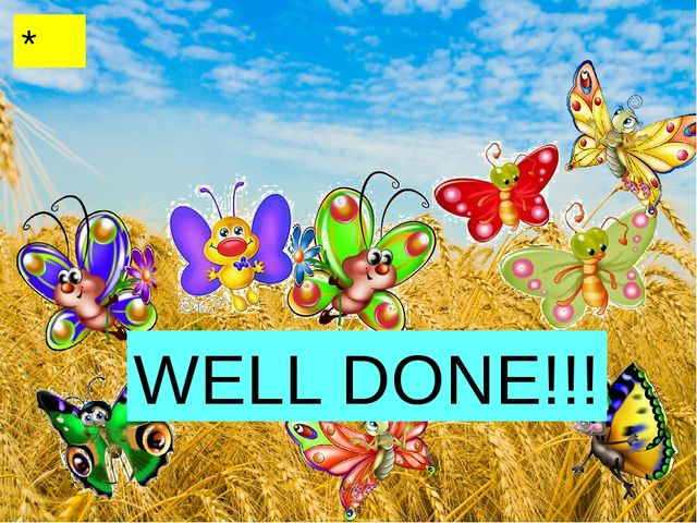 * WELL DONE!!!