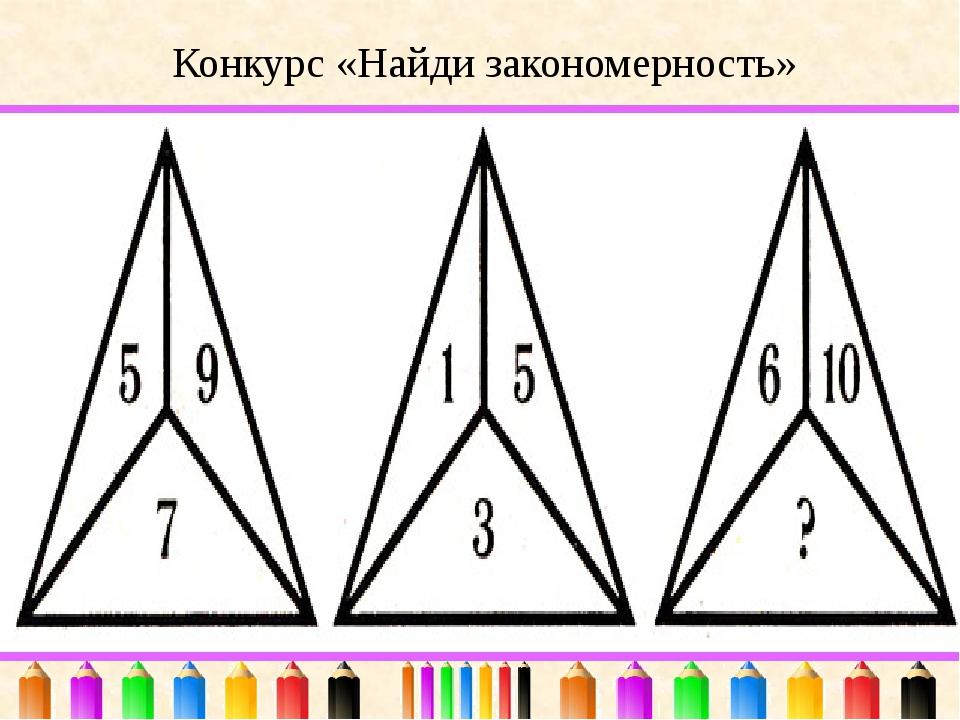Конкурс «Найди закономерность»
