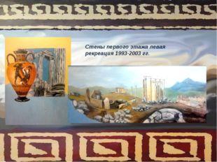 Стены первого этажа левая рекреация 1993-2003 гг.