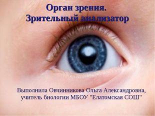 Орган зрения. Зрительный анализатор Выполнила Овчинникова Ольга Александровна
