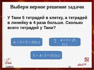 Выбери верное решение задачи Периметр квадрата 12 см. Чему равен периметр пр