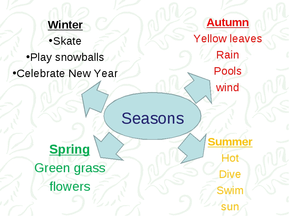 Spring Green grass flowers Seasons Winter Skate Play snowballs Celebrate New...