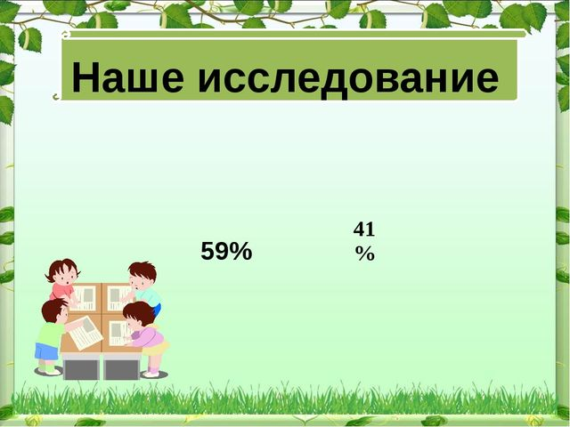 Наше исследование 59%