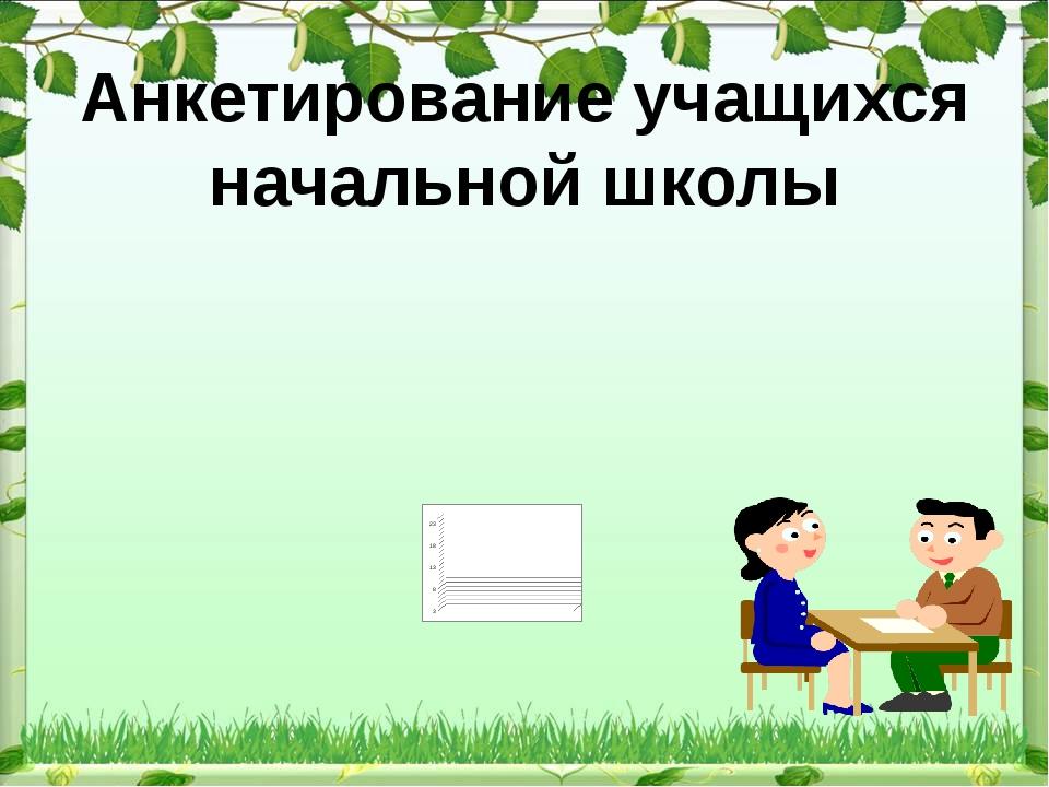 Анкетирование учащихся начальной школы