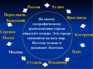 По своему географическому расположению города образуют кольцо. Эти города зн