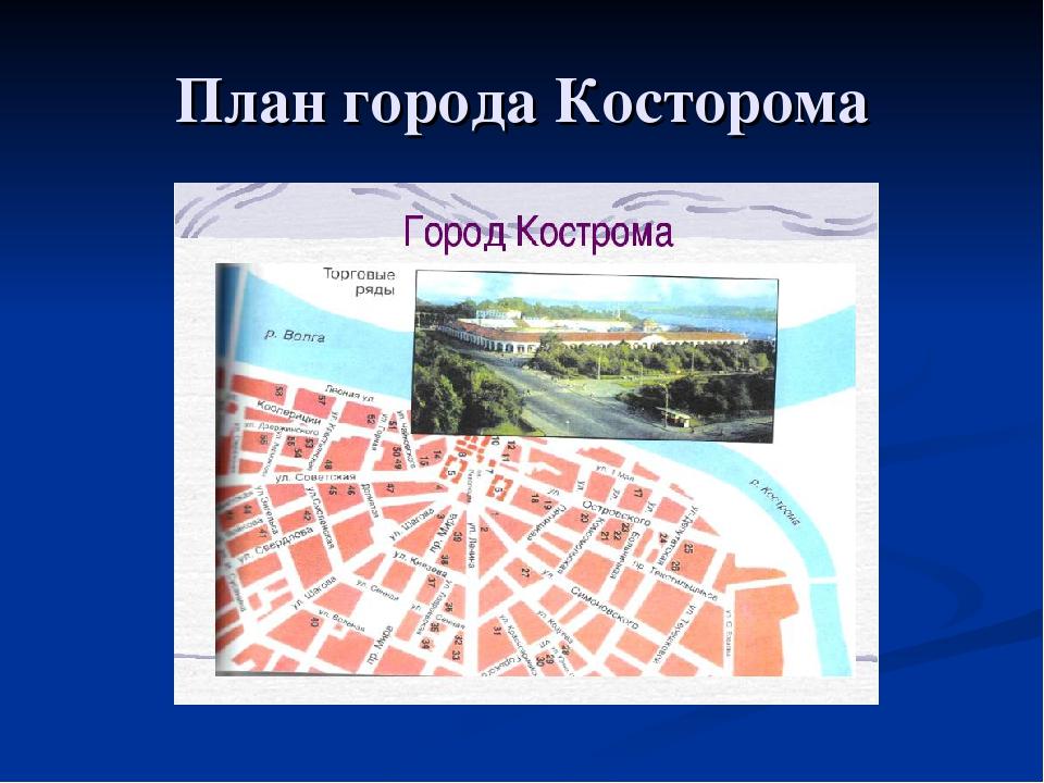 План города Косторома