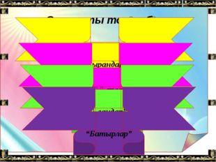 Топтың ережесі: Топта белсене жұмыс жасау; Топта бірін-бірі сыйлау; Әр оқушын