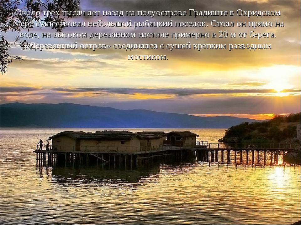 Около трех тысяч лет назад на полуострове Градиште в Охридском озере существо...
