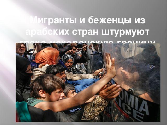 Мигранты и беженцы из арабских стран штурмуют греко-македонскую границу Фото:...
